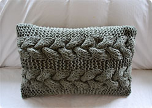 Ravelry Cable Braid Pillow Pattern By Tina Maat Kristensen