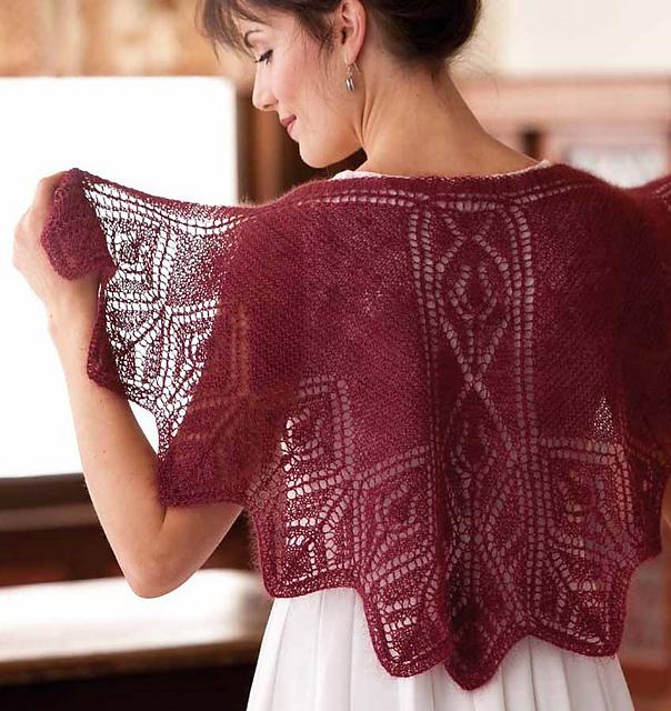 Ravelry: Rosebud Faroese-Style Shawl pattern by Margaret Stove