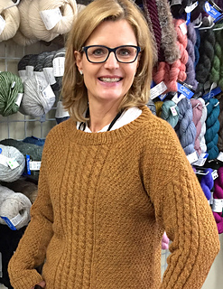 c361dce88a7d Ravelry  Easy Aran Adult Pullover pattern by Michelle Kupfer