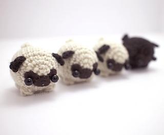 Amigurumi Octopus Mohu : Ravelry: little amigurumi pug dog pattern by mohu