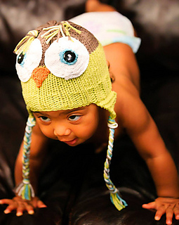 ravelry owl baby hat pattern by authentic knitting board