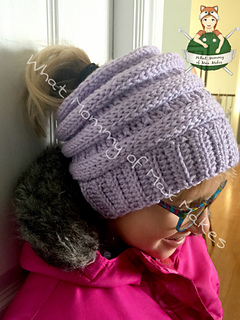 d9576ede7e79e Ravelry  Tammy s Take (on the CC beanie) Messy Bun Hat pattern by ...