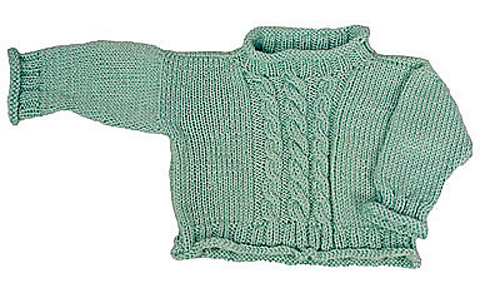 ded31bb16585 Ravelry  Easy Cabled Baby Pullover - No Seams! pattern by Diana ...