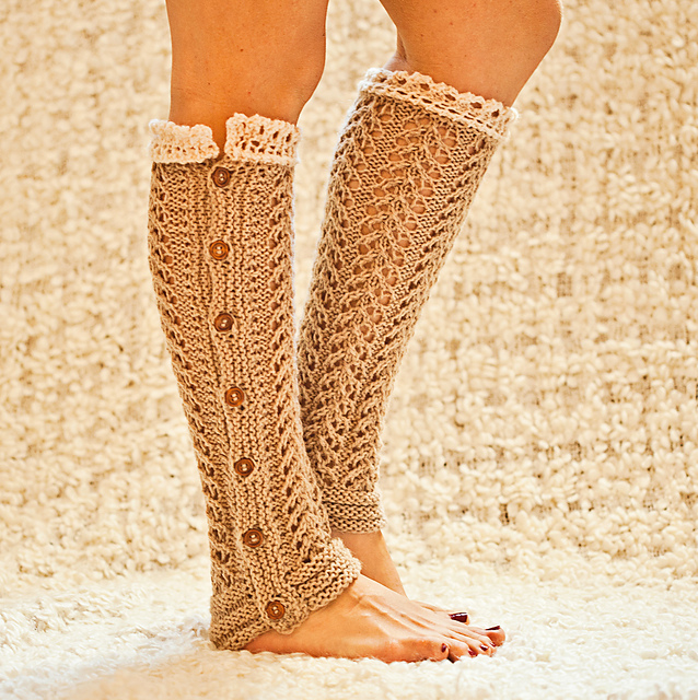 Ravelry: Lace Leg Warmers pattern by Mon Petit Violon