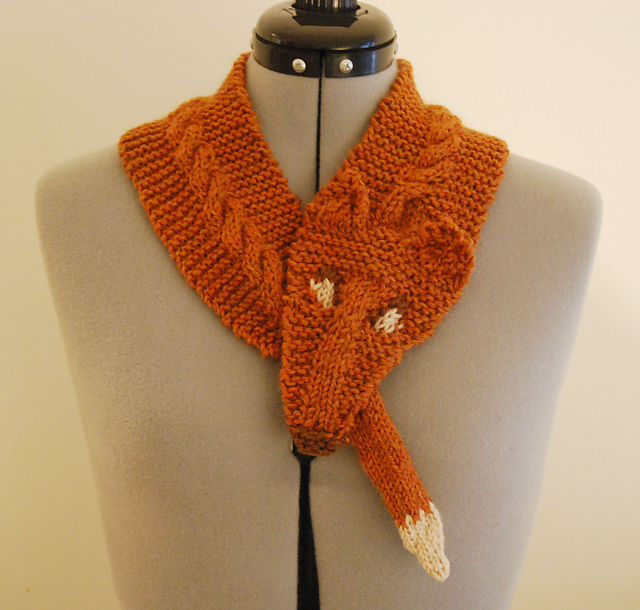 Ravelry Fox Scarf Pattern By Kitty Adventures