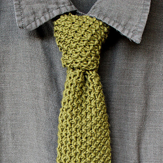 d576378d488 Ravelry  Necktie in Seed Stitch pattern by Kristen McDonnell