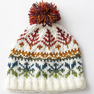 Ravelry  Fair Isle Hat  6209 pattern by Bernat Design Studio ac4fa553a6b