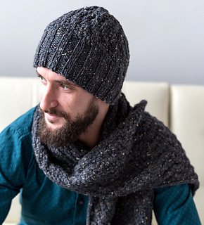 Ravelry  Men s Cable Hat and Scarf pattern by Authentic Knitting Board 7f867132b0c
