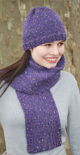 Ravelry Basic Stockinette Hat And Scarf Pattern By Authentic