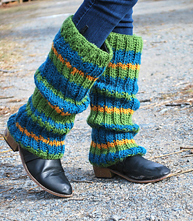 Ravelry Striped Leg Warmers Pattern By Authentic Knitting