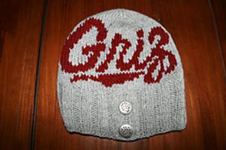 49484e38600 Ravelry  University of Montana Griz Button Beanie Kit pattern by Melanie  Cross