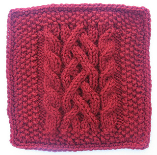 Ravelry Ship To Shore 9 Quot Knit Cabled Afghan Block Pattern