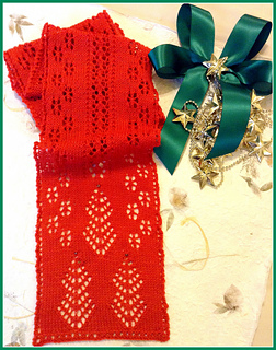 Christmas Scarf.Christmas Trees And Snowflakes Knit Lace Scarf Pattern By Michael Harrigan