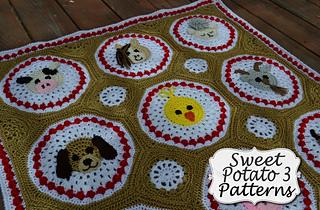 Ravelry Farm Animal Baby Blanket Pattern By Sweet Potato 3