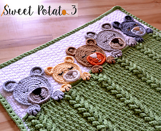 Sleep Tight Teddy Bear Blanket pattern by Sweet Potato 3