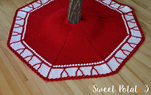 Ravelry O Christmas Tree Skirt Pattern By Sweet Potato 3