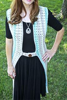 Retro Duster Vest pattern by Tonya Bush
