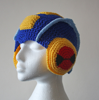 7f736761d2f Ravelry  natemmab s Megaman.EXE Helmet