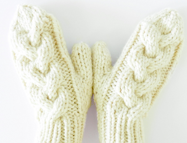 Ravelry: Back Woods Cable Knit Mittens pattern by Crystal Lybrink