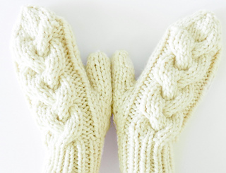 e343f9671 Back Woods Cable Knit Mittens pattern by Crystal Lybrink