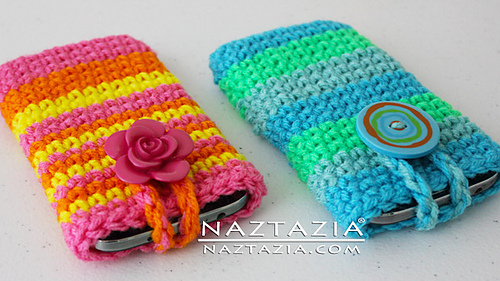 Ravelry Easy Cell Phone Case Or Tablet Holder With Help Video