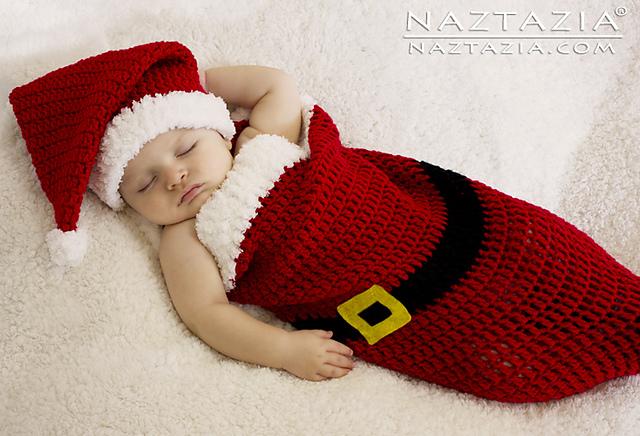 Ravelry Baby Santa Hat Cocoon Pattern By Naztazia Amazing Baby Cocoon Crochet Pattern Red Heart