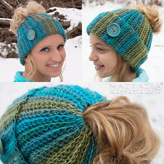 e5fcdbdddbbaa Ravelry  Ribbed Bun Hat pattern by Naztazia