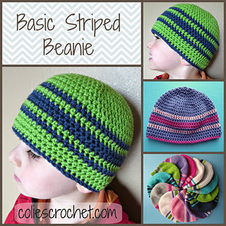 17d21404372 Ravelry  Basic Striped Beanie pattern by Nicole Bencker
