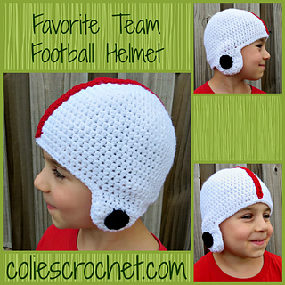 8d9934263b6 Ravelry  Favorite Team Football Helmet pattern by Nicole Bencker