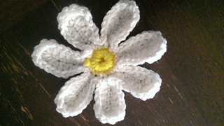 Daisy flower quick stitch machine embroidery and applique