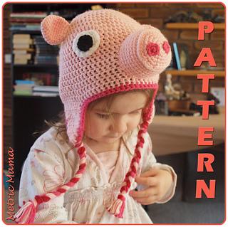 Ravelry  Peppa Pig Beanie - Adjustable Size - Crochet Pattern pattern by  Nicole Davis f54c3eed81d