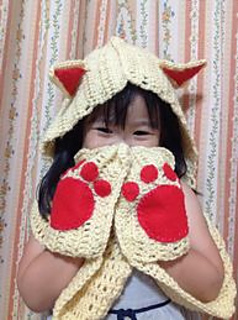 c82e0ad31985 Ravelry  Cuddly Cat Crochet Scoodie with Pockets pattern by Tamara Kelly