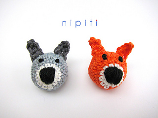 Ravelry: woodland animals nipiti bonbons appliques 3d patterns