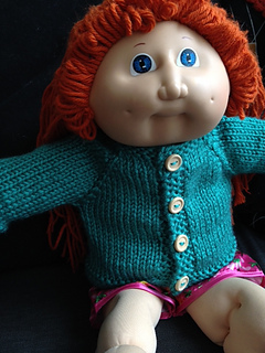 Ravelry hooded sweater for a cabbage patch doll pattern by janice helge dt1010fo