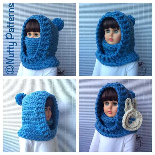 Boston Hooded Cowl Pattern By Bina Alper