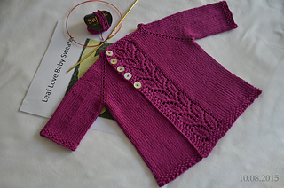 ddabe182c98f Ravelry  Leaf Love Baby Sweater pattern by Taiga Hilliard Designs