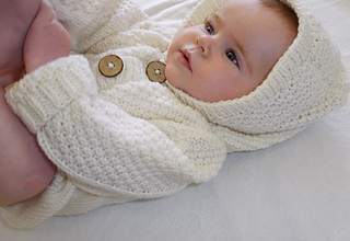Knitting Pattern For Baby Cardigan With Hood And Ears : Ravelry: Baby Cardigan and Hooded Jacket pattern by OGE ...