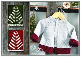 58d5ae44cddf Ravelry   Fir Christmas  cardigan - P138 pattern by OGE Knitwear Designs