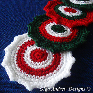 Ravelry Christmas Coasters 008 Pattern By Olga Andrew
