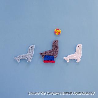 free pattern crochet seal applique