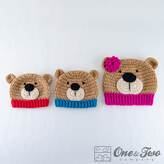 Crochet Baby Teddy Bear Hat Pattern : Ravelry: Teddy Bear Hat pattern by Carolina Guzman