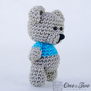 Free Crochet Mini Teddy Bear Pattern : Ravelry: Sam, the Little Teddy Bear pattern by Carolina Guzman