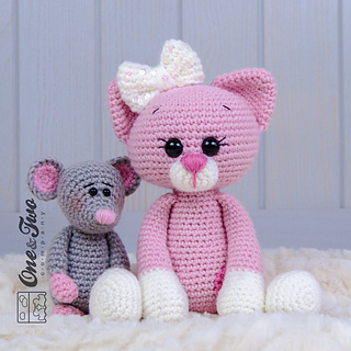 Ravelry: Kissie Kitty and Skip Mouse Amigurumi pattern by ...