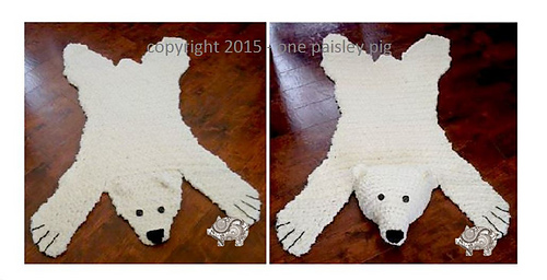 Ravelry Polar Bear Quot Skin Quot Rug Pattern By Paisley