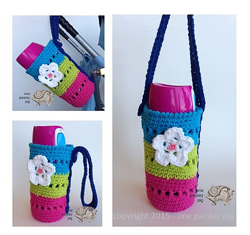 Ravelry Flower Water Bottle Holder Pattern By Paisley
