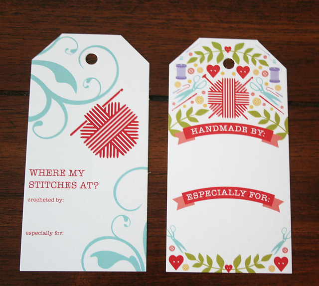 Ravelry: Crochet & Notions Gift Tags (6 Tags