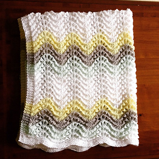 Ravelry Feather And Fan Rainbow Baby Blanket Pattern By