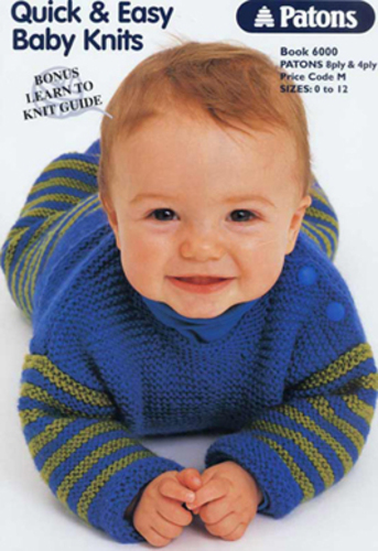 Ravelry Patons 6000 Quick Easy Baby Knits Patterns