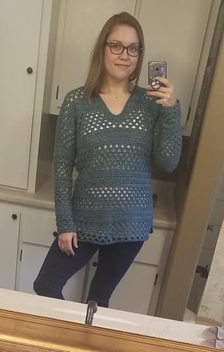 Ravelry Lace Up Granny Stripes Sweater Pattern By Ana D
