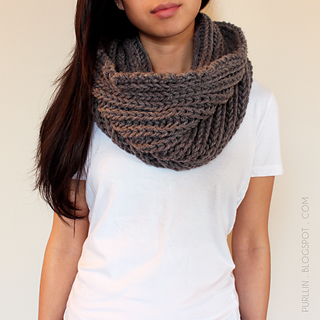 Ravelry Textured November Infinity Scarf Pattern By Purllin